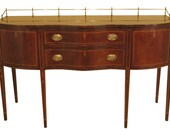 37222EC HENKEL HARRIS Model 2367 Mahogany Sideboard w. Brass Gallery