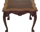 47425EC Chippendale Style Ball Claw Mahogany Occasional Table