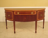 23700E KITTINGER 1 2 Round Inlaid Mahogany Sideboard w. Satinwood Inlay