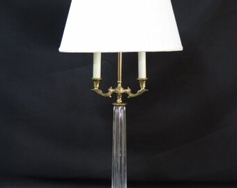 acc839be1102 LF44564E  CHELSEA HOUSE Brass   Crystal Column Lamp w. Shade
