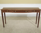 25677EC KARGES Federal Style Inlaid Mahogany Console Table