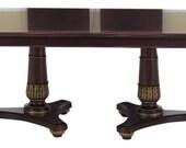 45125EC HENKEL HARRIS Model 2213 Regency Mahogany Dining Room Table