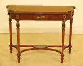 29908EC MAITLAND SMITH Adam Paint Decorated Satinwood Decorated Console Table