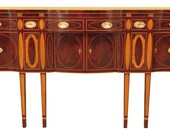 46429EC KINDEL Winterthur Collection Inlaid Mahogany Sideboard