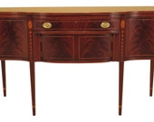46955EC BIGGS Federal Style Bell Flower Inlaid Mahogany Sideboard