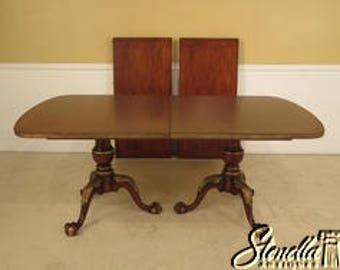 L40963E: CENTURY Claw Foot Mahogany Banded Dining Room Table