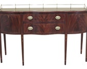 30320EC HENKEL HARRIS Inlaid Mahogany Federal Sideboard w. Gallery