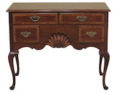 47724EC WHITE FURNITURE CO Burl Walnut New England Style Lowboy