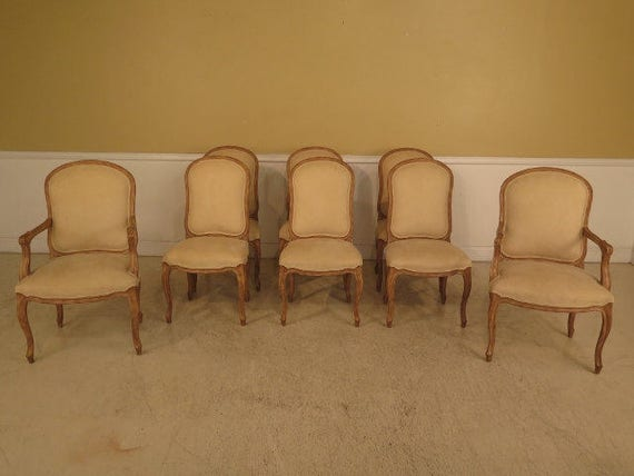 Awesome L41853E Set Of 8 French Louis Xv Style Dining Room Chairs Spiritservingveterans Wood Chair Design Ideas Spiritservingveteransorg