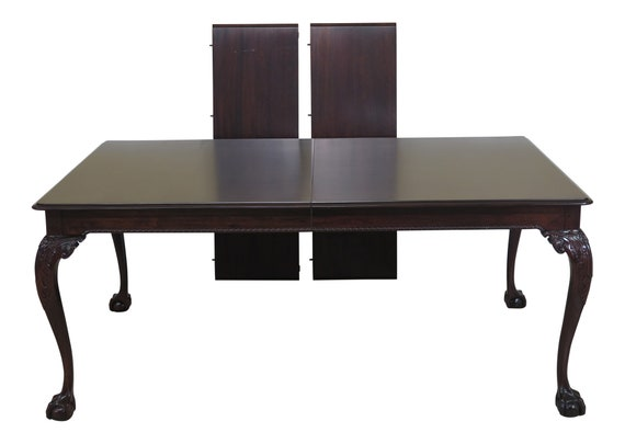 47237EC: STICKLEY Clawfoot Mahogany Dining Room Table