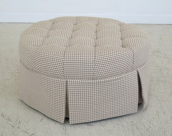 45165EC: CALICO CORNERS Tufted Upholstered Round Ottoman