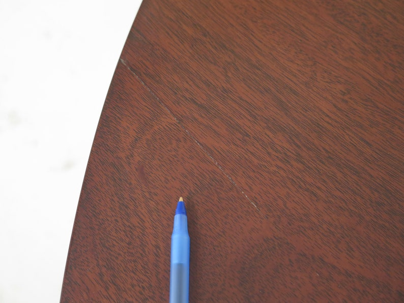 Pair Antique Adam Style Mahogany 12 Round Demilune Tables