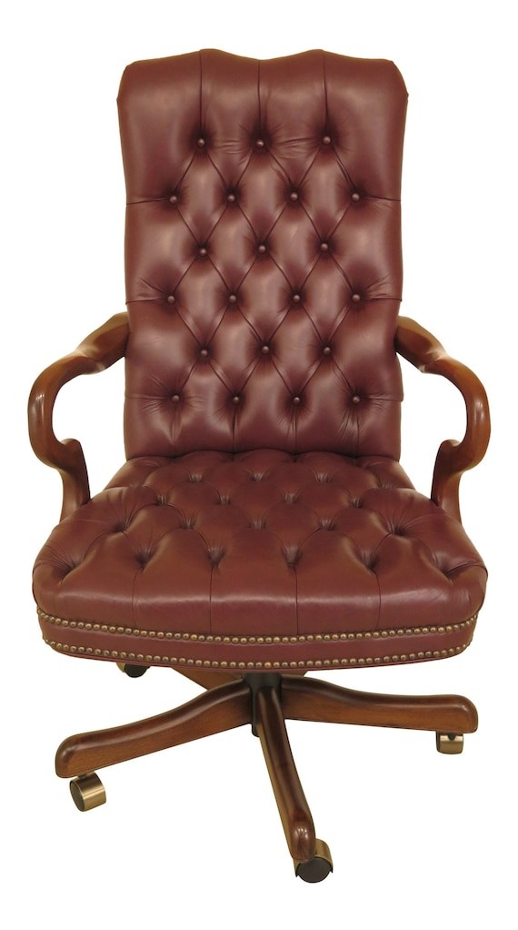 Prime 46225Ec Fairfield Tufted Leather Desk Office Chair W Tack Trim Andrewgaddart Wooden Chair Designs For Living Room Andrewgaddartcom