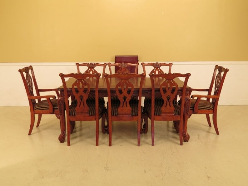 F45078EC: ASHLEY Cherry Dining Room Table & Chairs Set