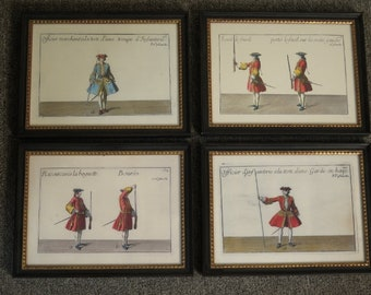LF44622E: Set of 4 French Soldier Framed Prints
