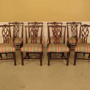 44047EC SAYBOLT CLELAND Chippendale Mahogany Devon Arm Chair
