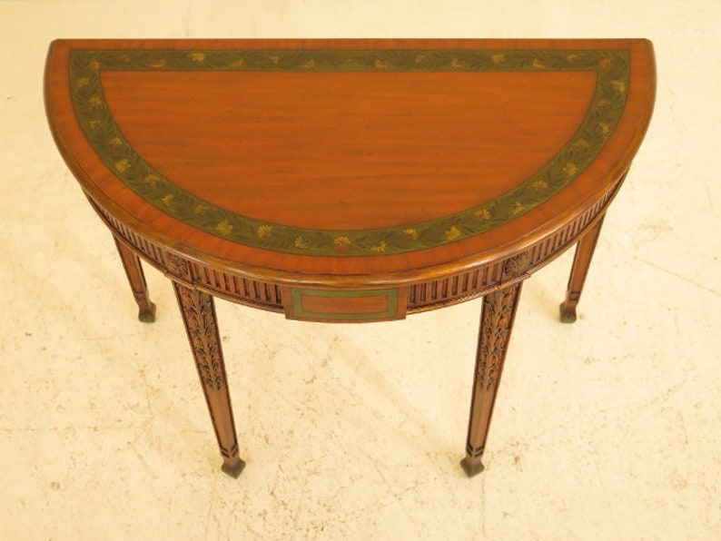 MAITLAND SMITH Adam Style Paint Decorated Console Table 29914EC