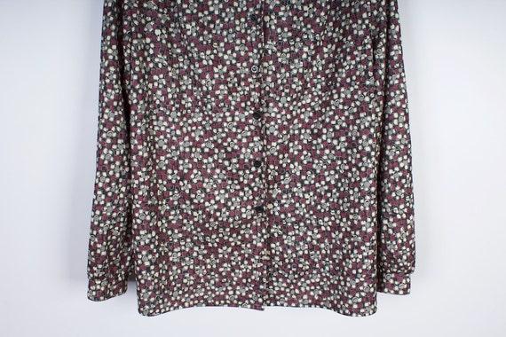 Gray Jersey Womens'  Blouse Elastic Grey Lavander… - image 4