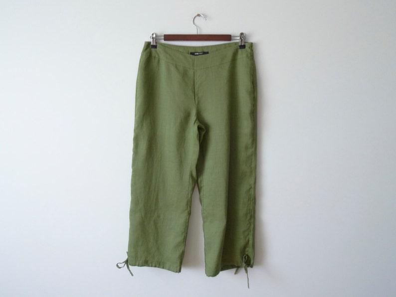 580924f05853 Green Culottes. Women's Pants. Short Pants. Low Waist | Etsy