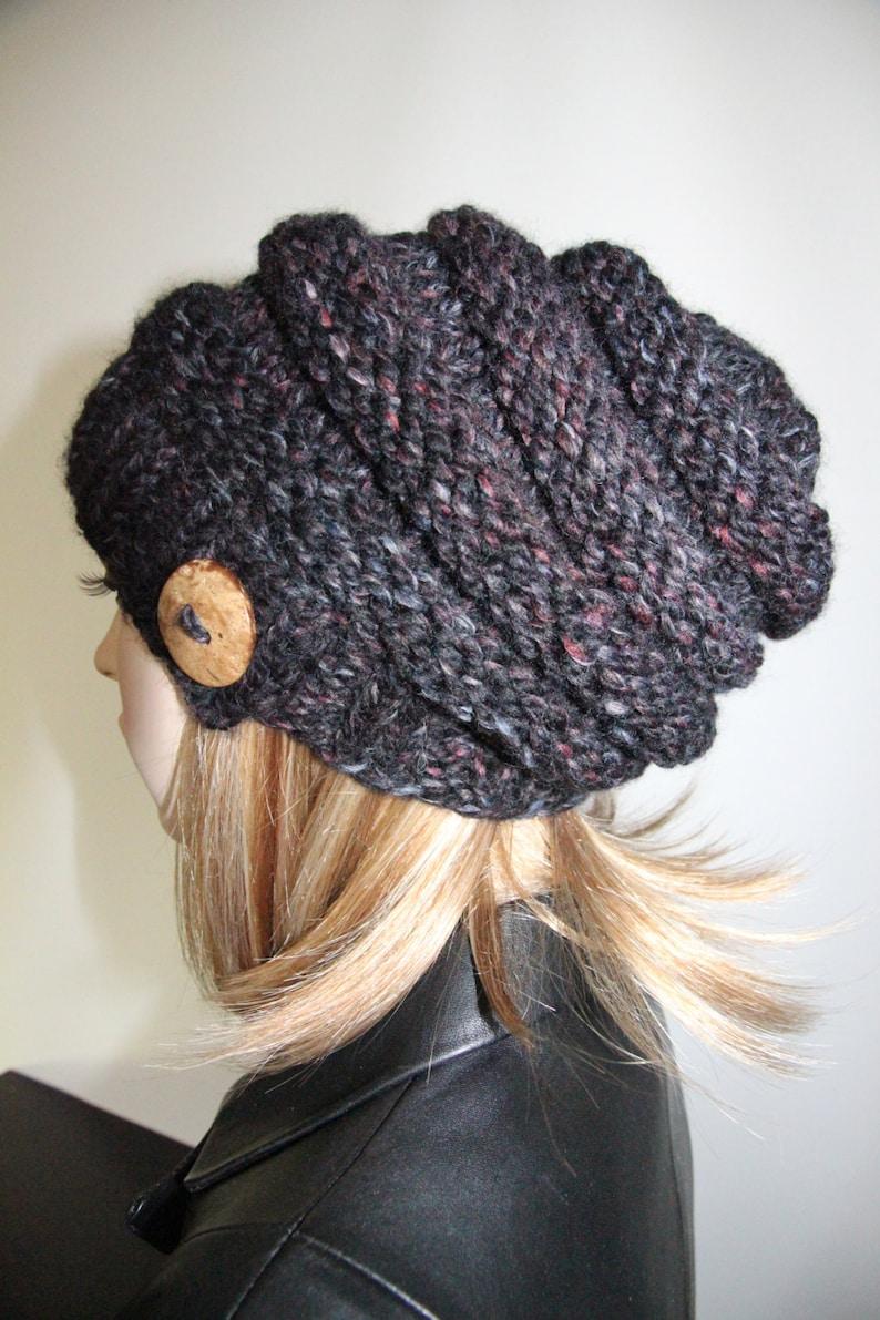 f10172f135d FINAL SALE Hand Knit Hat Slouchy Beanie Slouchy Hat Women