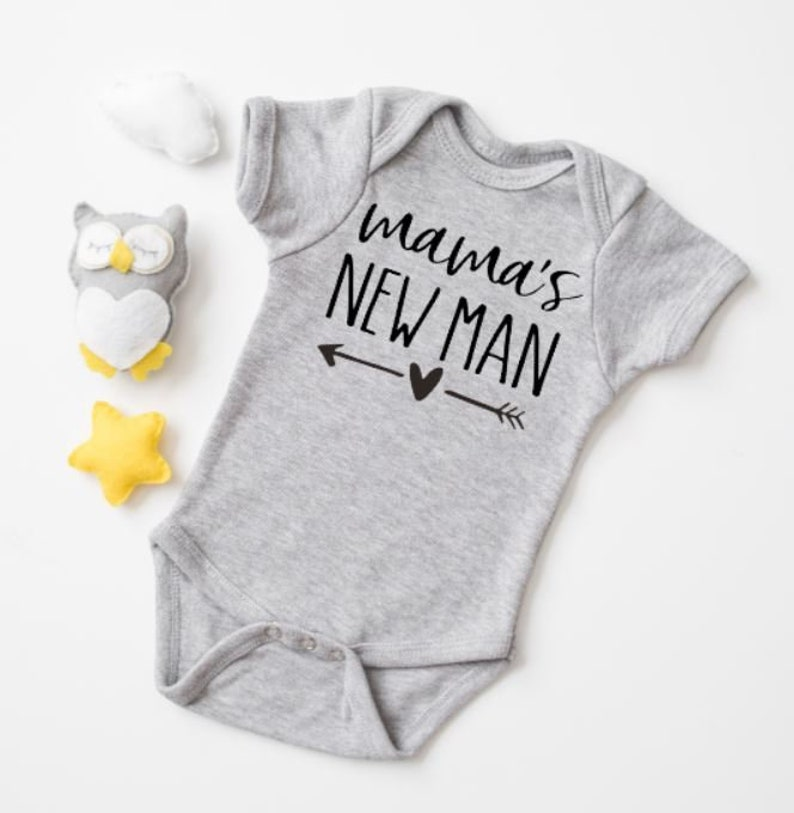 Mama/'s New Man Baby Boy Bodysuit