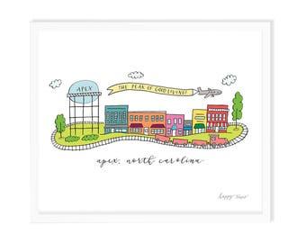 Apex North Carolina Art Print