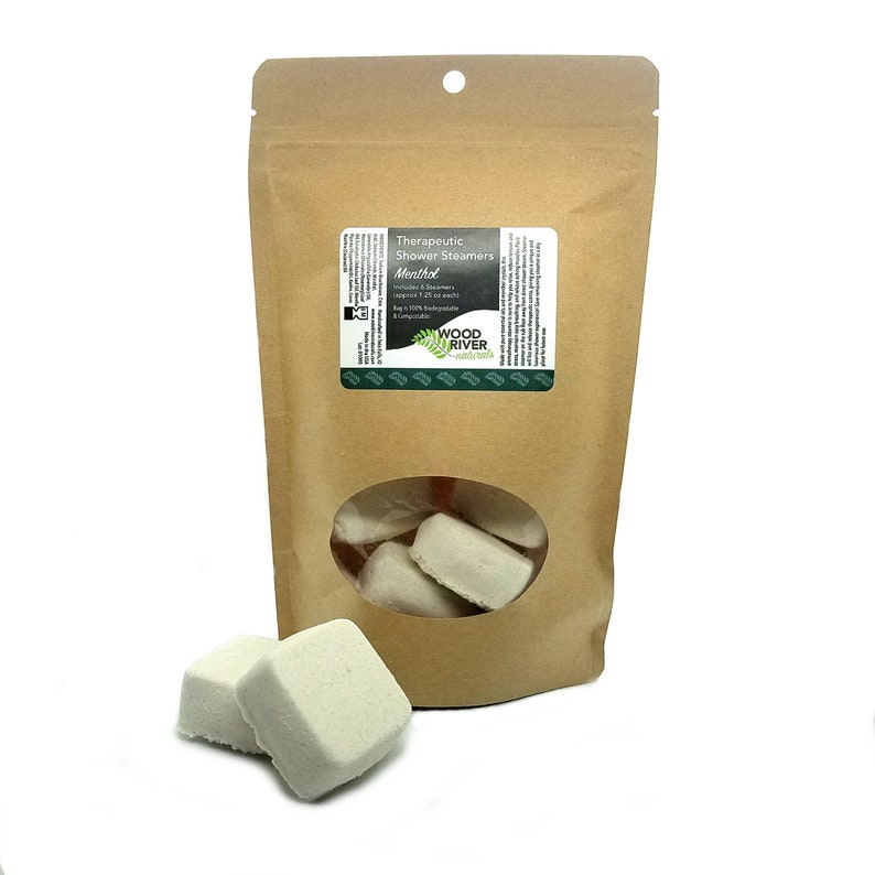 Shower Steamers  Menthol  6 Pack  100% Compostable image 0