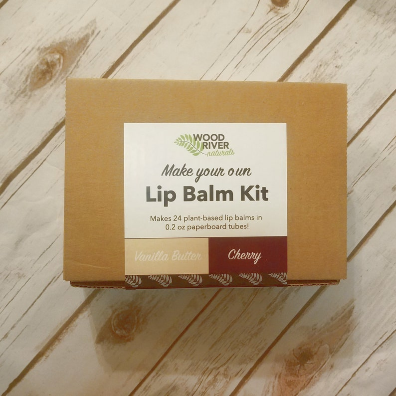 DIY Lip Balm Kit  24 Lip Balms  Vanilla Butter/Cherry  image 0