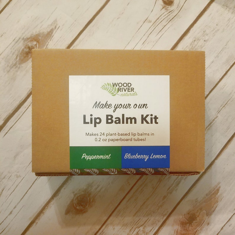 DIY Lip Balm Kit  24 Lip Balms  Peppermint/Blueberry Lemon  image 0