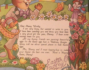 Easter Bunny Letter Personalized