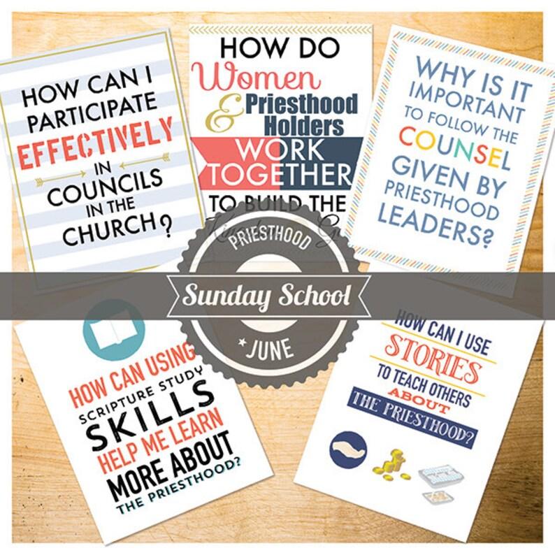 June {Come Follow Me} Sunday School Lessons