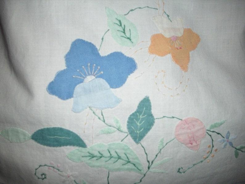 Vintage Linen Denim Tote