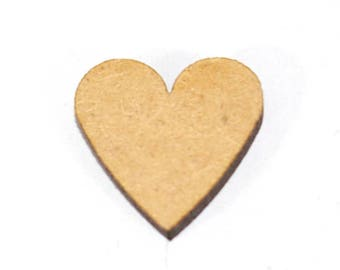 MADE WITH LOVE Wooden Love Heart Craft Scrapbook Embellishments 10//25//50//100 2cm
