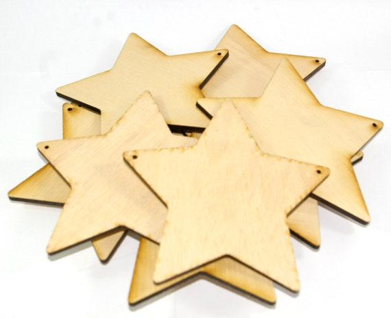 3 x Wooden MDF Shapes Stars Blanks Craft Embellishments Decoration 150-300mm