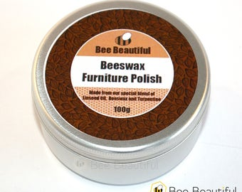 Pure Beeswax Furniture Polish with Linseed Oil 100g / 200g