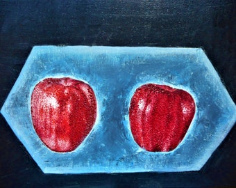 "Original oil painting by Nalan Laluk: ""My Apples"""