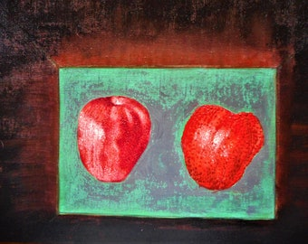 "Original oil painting by Nalan Laluk: ""These are not Apples"""