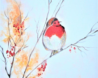 """Original oil painting by Nalan Laluk: """"Not a Partridge in a Pear Tree"""""""