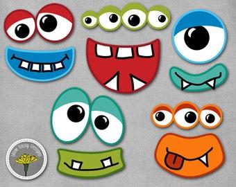 monster eyes etsy rh etsy com monster eyes clipart black and white Monster Face Clip Art