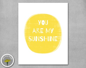 """You are my sunshine, Printable, Instant Download, Poster, Print 8x10"""", PERSONAL USE ONLY"""