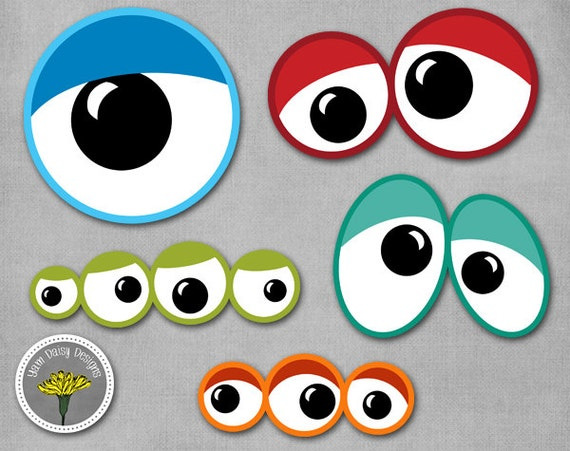 graphic regarding Printable Eye named Monster Eyes Picture Props, Printable, Fast Down load - Particular person Retain the services of Simply just