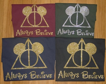 Disney Harry Potter Birthday Party Shirt, Gift, for Her, Kids, for him, Hogwarts, Gryffindor, Slytherin, Hufflepuff, Ravenclaw, youth