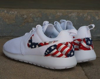 best sneakers 0a4bb 273ef New Nike Roshe Run Custom Red White Blue American Flag Edition Mens Shoes  Sizes 8 - 15