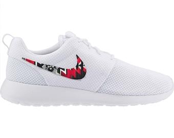 new arrivals b0198 c8ec5 New Nike Roshe Run Custom Red Black Gray Tribal