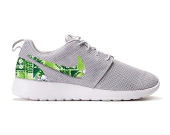 9db0388159fe New Nike Roshe Run Custom Green White Tropical Hawaiian Palm Tree Edition  Mens Shoes Sizes 7 - 15