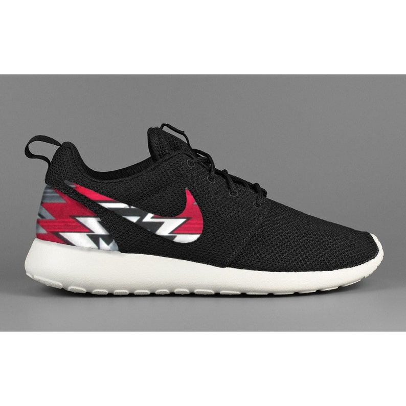 70efebb640ae New Nike Roshe Run Custom Red Black Gray Tribal Chopped