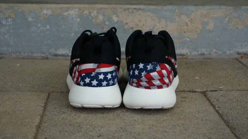 separation shoes 16a42 ae7bc Nouvelle Nike Run Roshe personnalisé rouge blanc bleu drapeau   Etsy