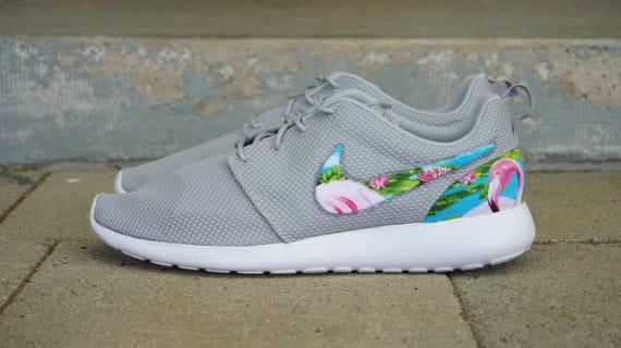 dd2a03e846de New Nike Roshe Run Custom Blue Green Flamingo