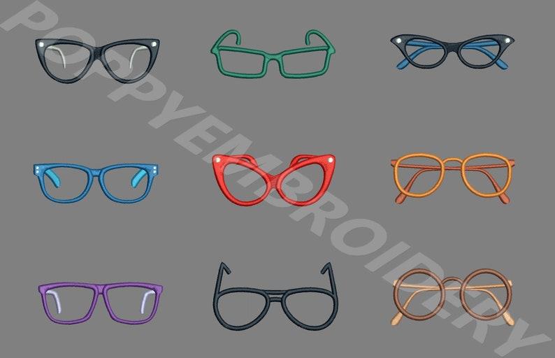 Disegni di occhiali da vista per macchina da ricamo lunettes etsy
