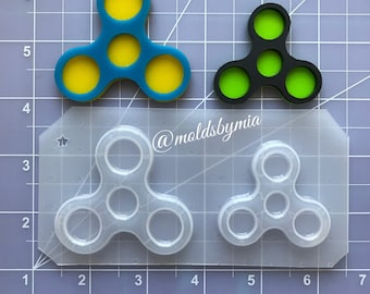 ON SALE!! Fidget Spinner flexible plastic resin chocolate mold (Jewelry ~ Smaller Size)
